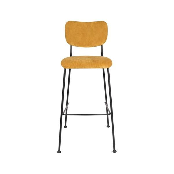 Sada 2 žlutých barových židlí Zuiver Benson, výška 102,2 cm