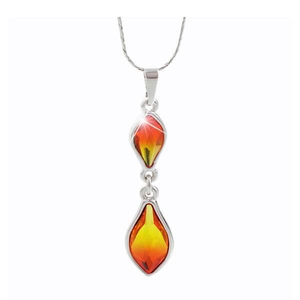 Náhrdelník s krystaly Swarovski® Yasmine Bergliot Fire