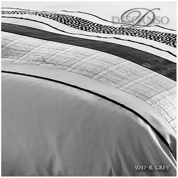 Lenjerie de pat Descanso Grey Stripes, 140 x 200 cm
