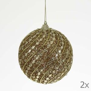 Set dekorativních koulí Ball Gold Glitter, 2 ks