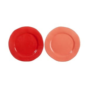Set talířů Coral 26x26x3 cm, 2 ks