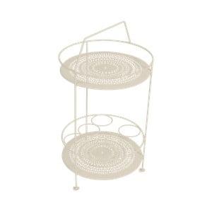 Světle béžový zahradní barový stolek Fermob Montmartre, Ø 40 cm
