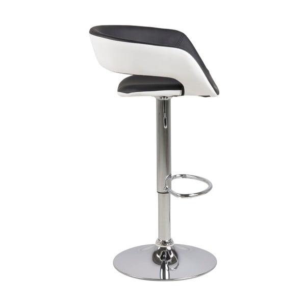 Sada 2 černobílých barových židlí Actona Grace