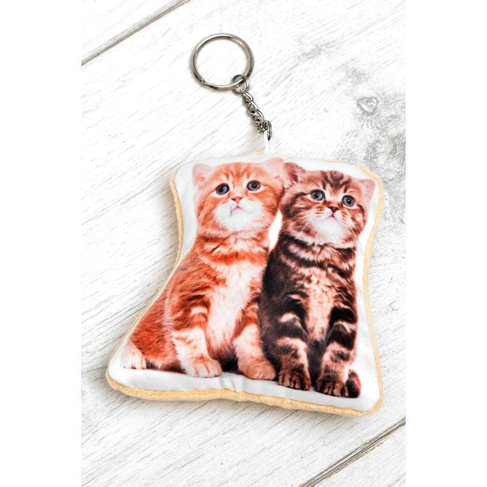 Klíčenka s potiskem koťátek Adorable Cushions Kitten Shaped Keyring