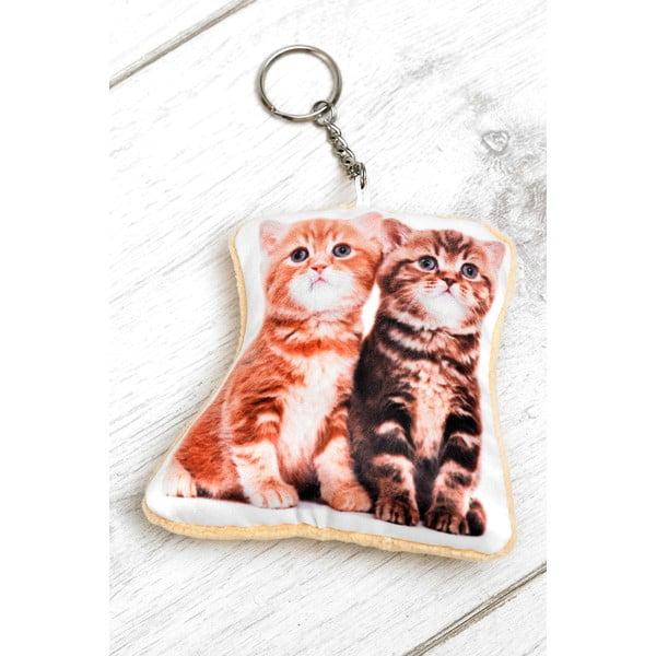 Kľúčenka s potlačou mačiatok Adorable Cushions Kitten Shaped Keyring