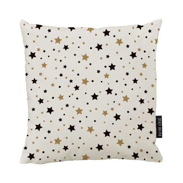 Vánoční polštář s bavlněným povlakem Butter Kings Golden Stars,50x50cm