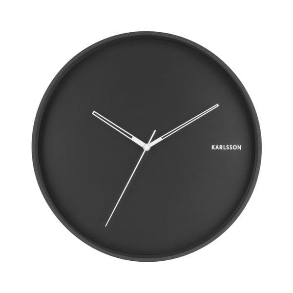 Černé nástěnné hodiny Karlsson Hue, ø 40cm