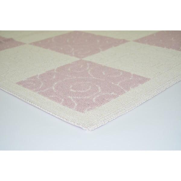 Pudrově růžový odolný koberec Vitaus Patchwork, 140x200cm