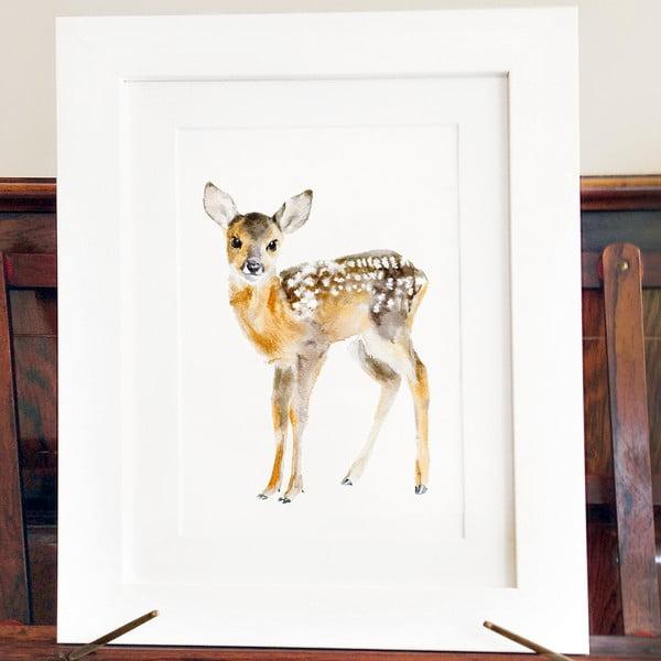 Plakát Baby Deer A4