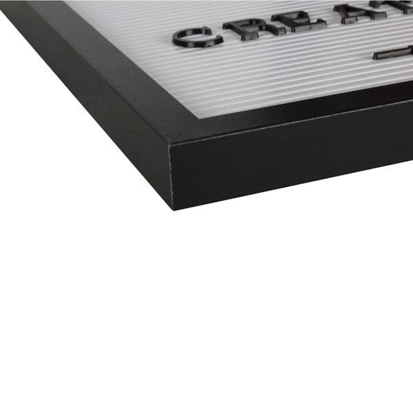 Bílá dekorativní tabule s černým rámem Opjet Paris Affichage, 40x50cm