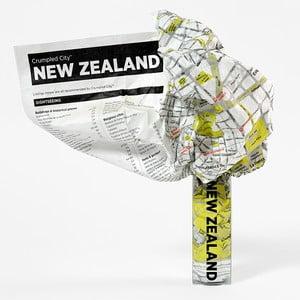 Zmačkaná cestovní mapa Palomar Nový Zéland