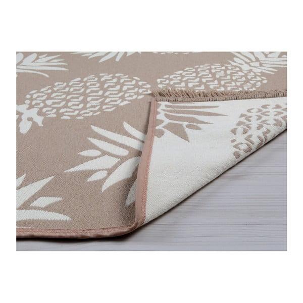 Béžovo-bílý oboustranný koberec Pineapple, 120 x 180 cm