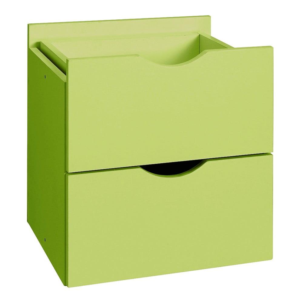 Zelená dvojitá zásuvka do regálu Støraa Kiera, 33 x 33 cm