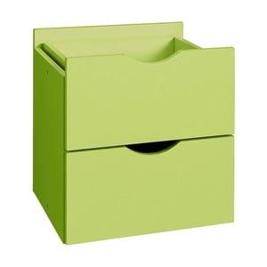 Sertar dublu pentru raft Støraa Kiera, 33 x 33 cm, verde