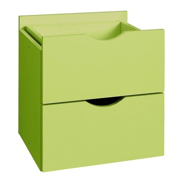 Zielona podwójna szuflada do regału Støraa Kiera, 33x33cm