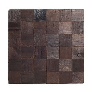 Nástěnná dekorace Wooden Brown, 60x60 cm