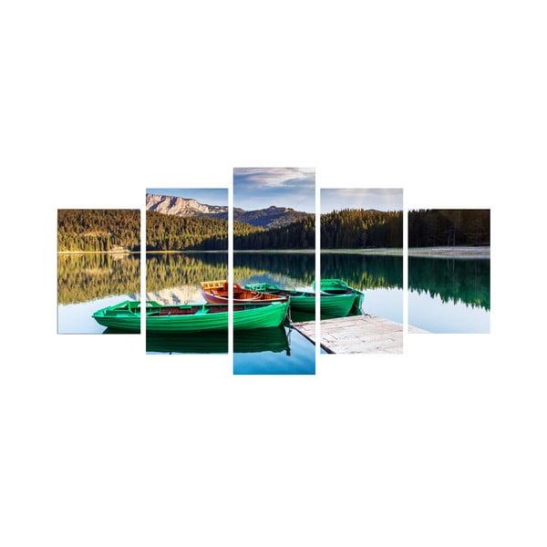 5dílný obraz Na jezeře