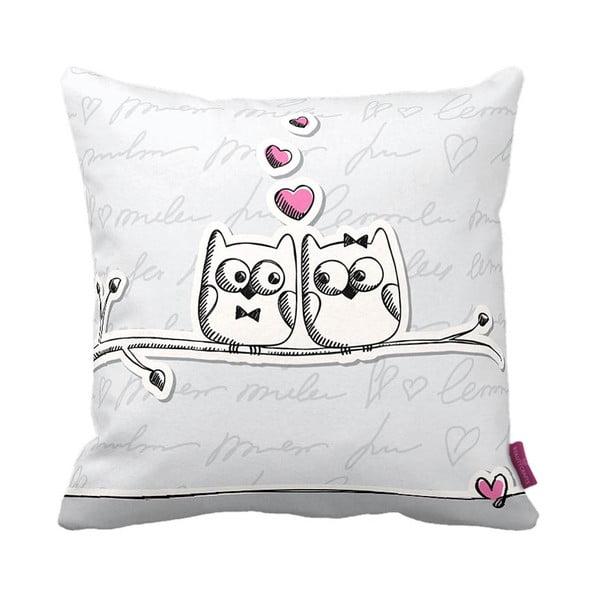 Polštář Owl Lovers, 43x43 cm