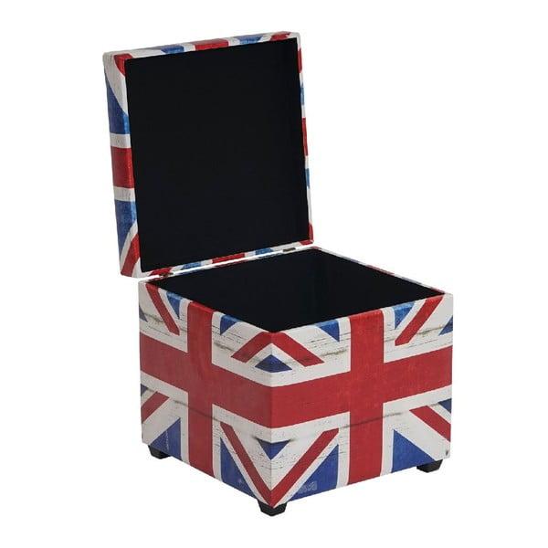 Taburetka s úložným prostorem Union Jack