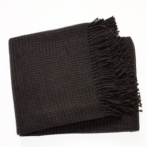 Pătură Waffel Black, 140x180cm