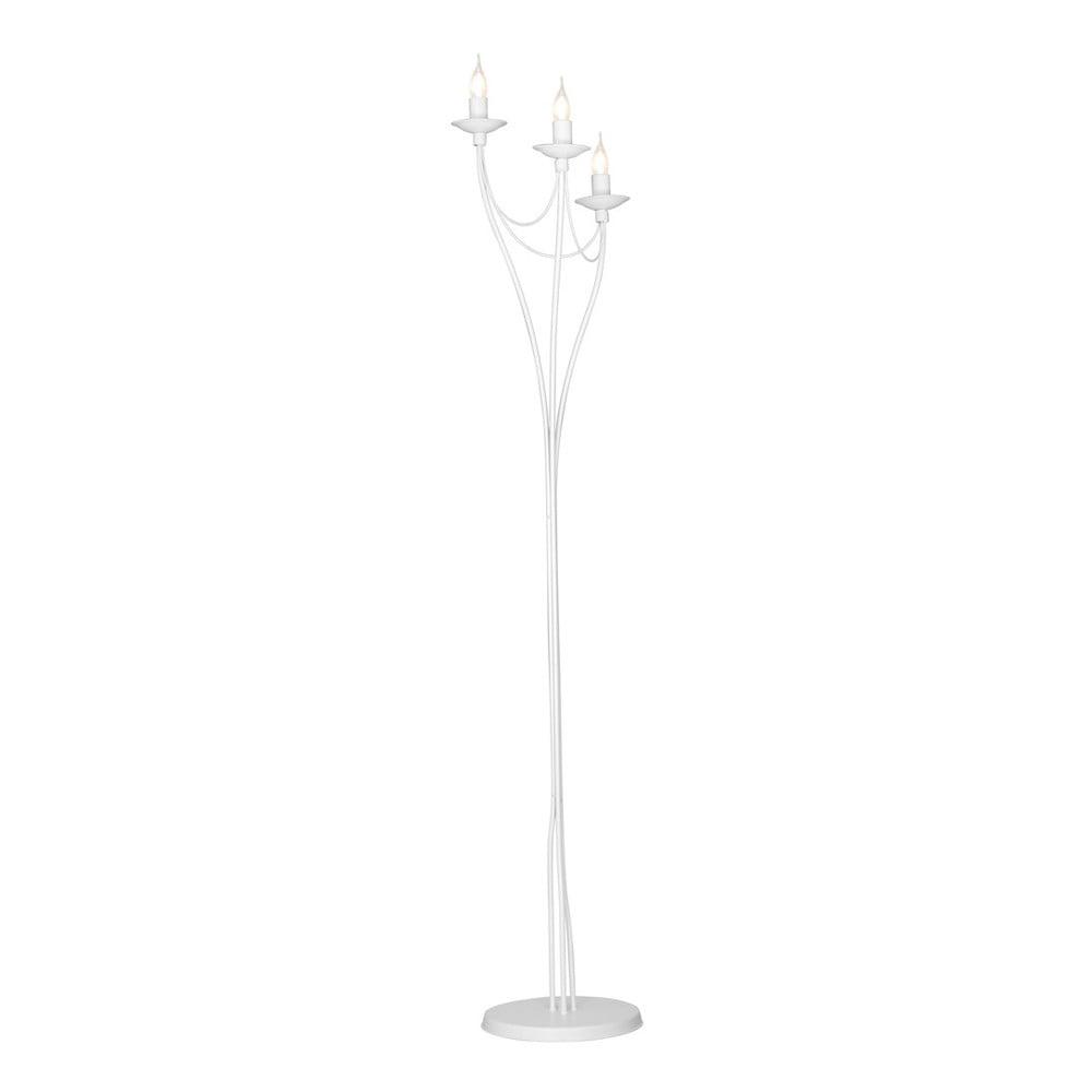 Bílá volně stojící lampa Glimte Charming, výška 164 cm