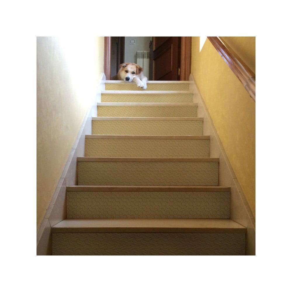 Sada 2 samolepek na schody Ambiance Stairs Stickers Karyn, 15 x 105 cm