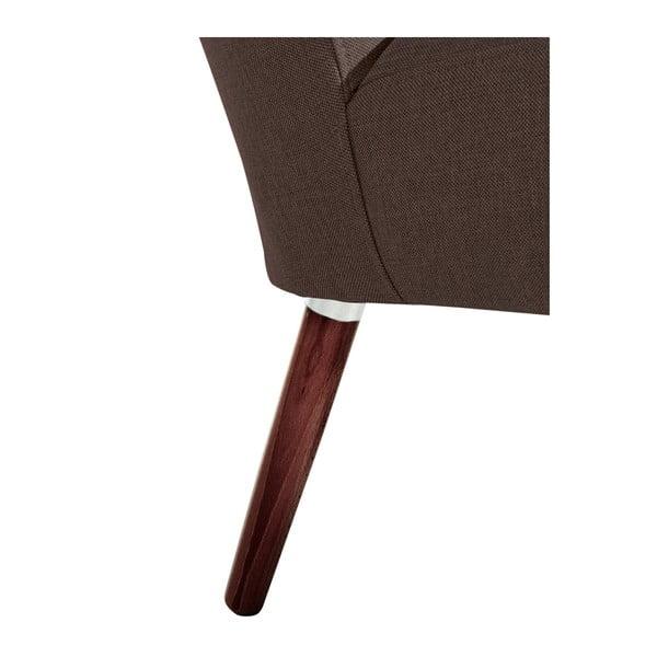 Tmavě hnědé křeslo Max Winzer Neele Chocolate Full