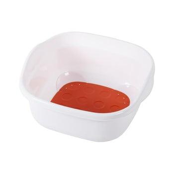 Lighean cu suprafață antiaderentă Addis Soft Touch, alb-roșu imagine