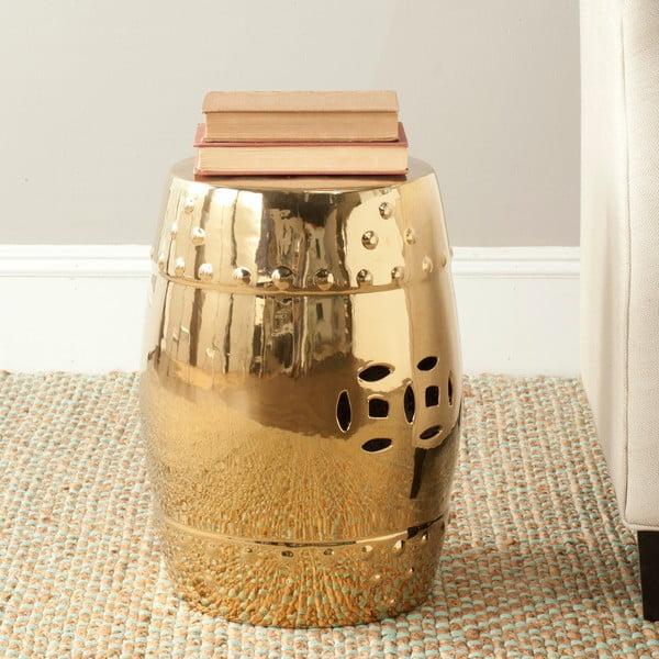 Zlatý odkládací keramický stolek Safavieh Modern Ming
