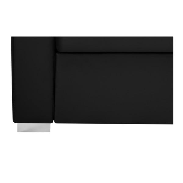 Černá rohová pohovka Florenzzi Piero