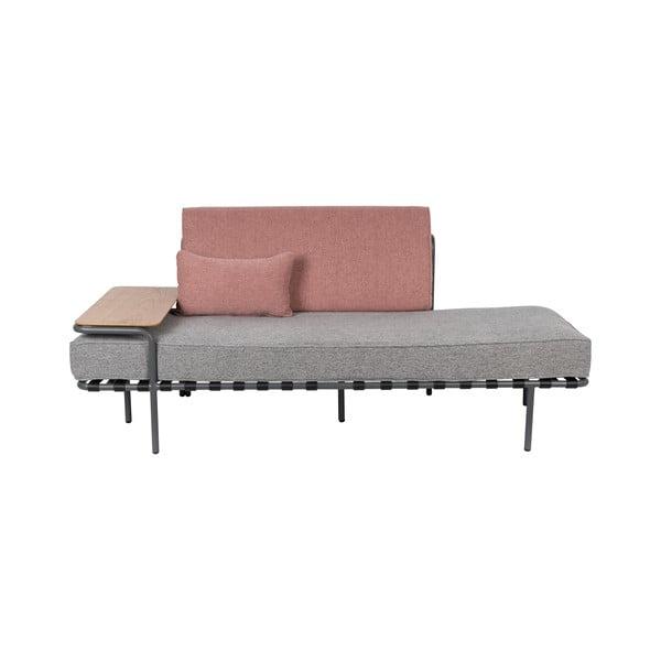 Canapea cu 2 locuri Zuiver Star, gri - roz