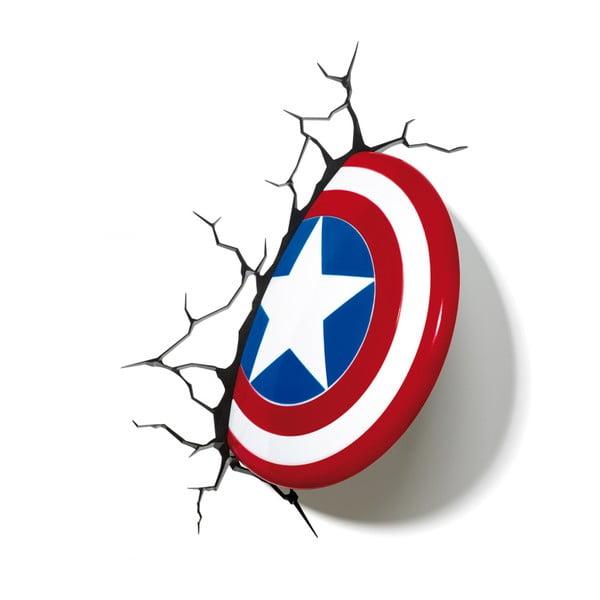 Nástěnné světlo s nálepkou Captain America