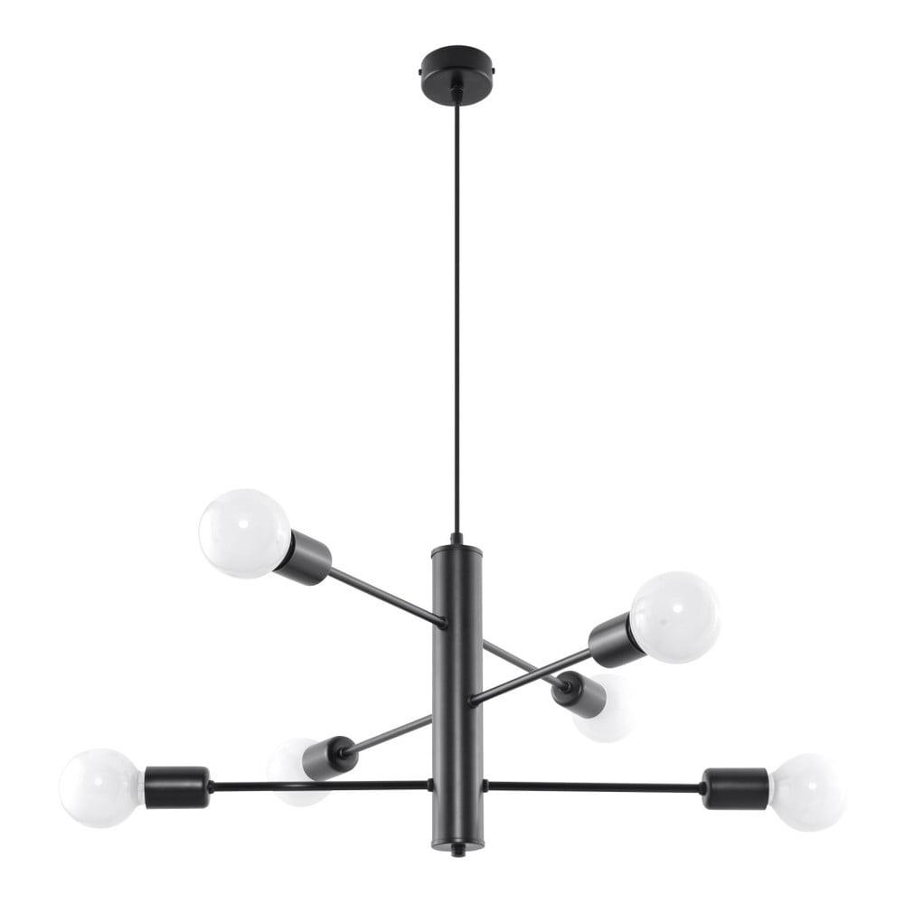 Černé stropní svítidlo Nice Lamps Donato 6