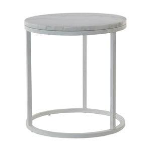 Mramorový odkládací stolek s šedou konstrukcí RGE Accent, ⌀50cm