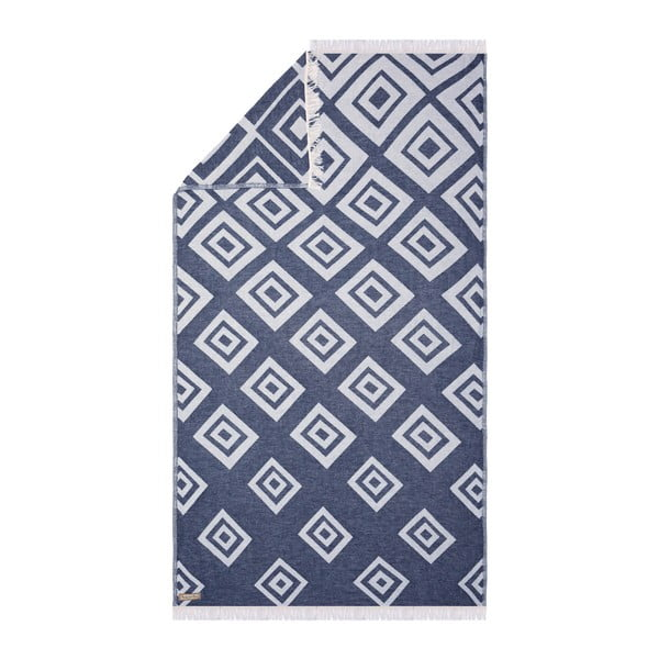 Tmavě modrá hammam osuška Begonville Jumbo, 175x90cm