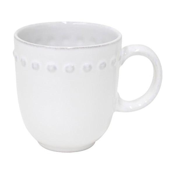 Cană din gresie ceramică Costa Nova Pearl, 370 ml, alb