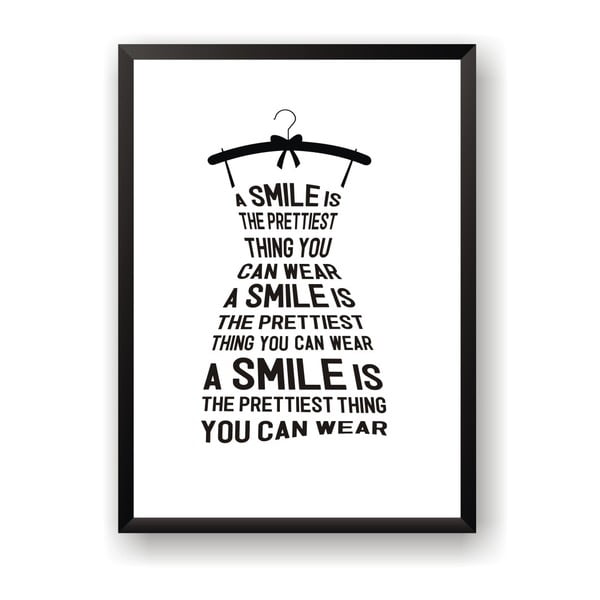 Poster Nord & Co Smile Is, 50 x 70 cm
