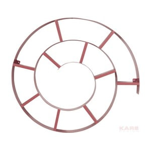 Růžová nástěnná knihovna Kare Design Snail