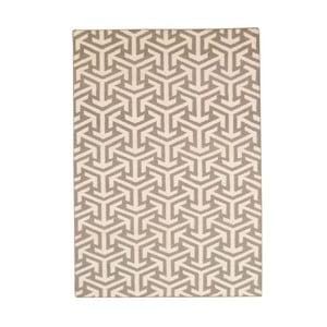 Vlněný koberec Bakero Kilim No. 305 Grey, 60x90cm