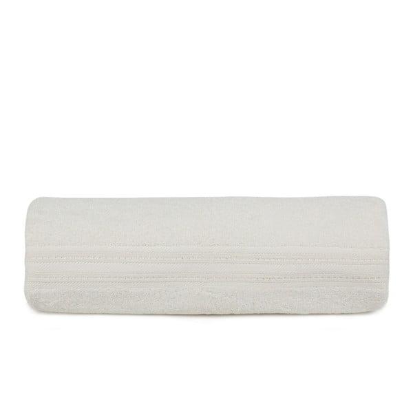 Krémová osuška z bavlny a bambusového vlákna Lavinya, 70x140cm