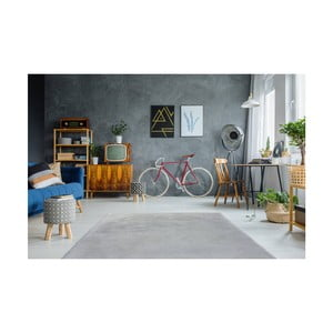 Šedomodrý ručně vyšívaný koberec Arte Espina Rabbit 100, 80x150cm
