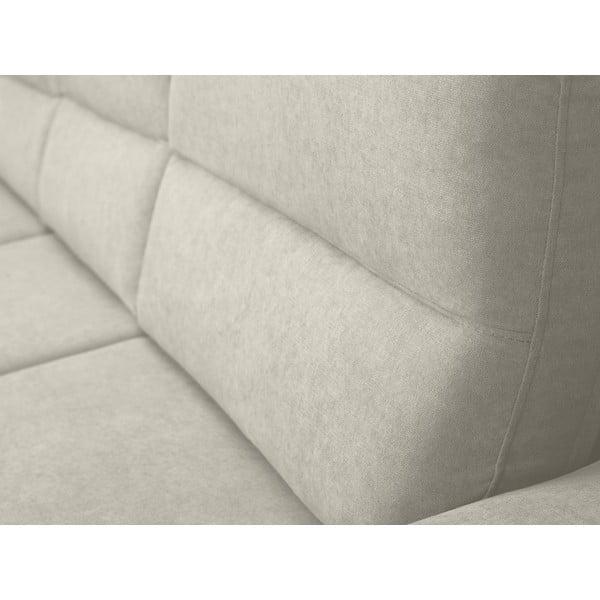 Béžová rozkládací rohová pohovka Windsor & Co Sofas Omega, levý roh