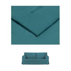 Tyrkysový povlak na rozkládací trojmístnou pohovku THE CLASSIC LIVING Morgane