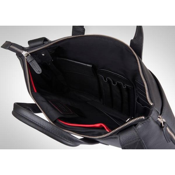 Kožená taška Valentini 518, černá