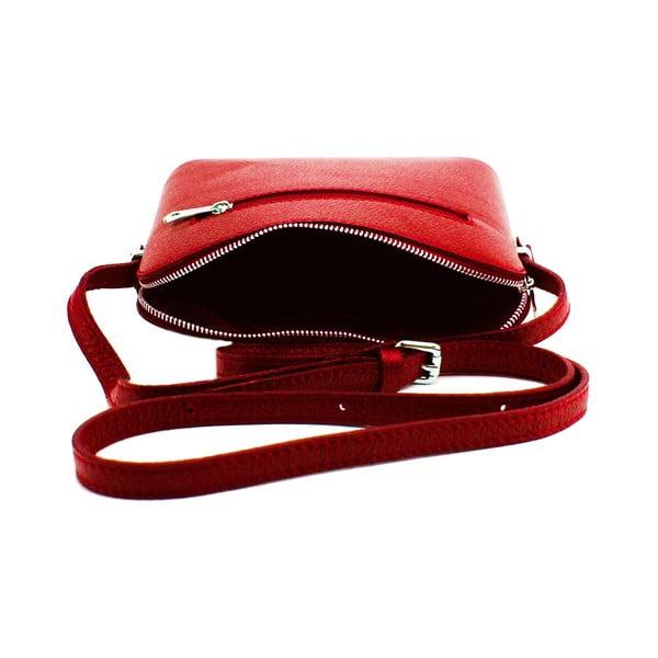 Kožená kabelka Cristella Rosso