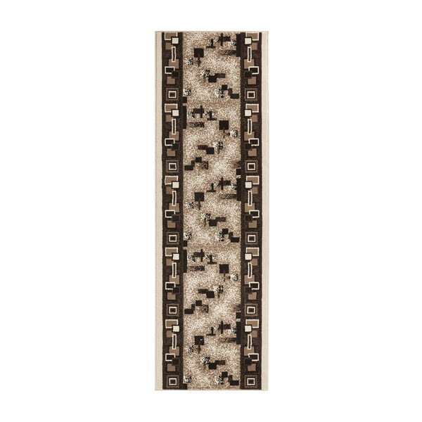 Koberec Basic Retro, 80x500 cm, krémový