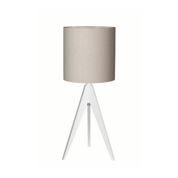 Šedá stolní lampa 4room Artist, bílá lakovaná bříza, Ø 25 cm