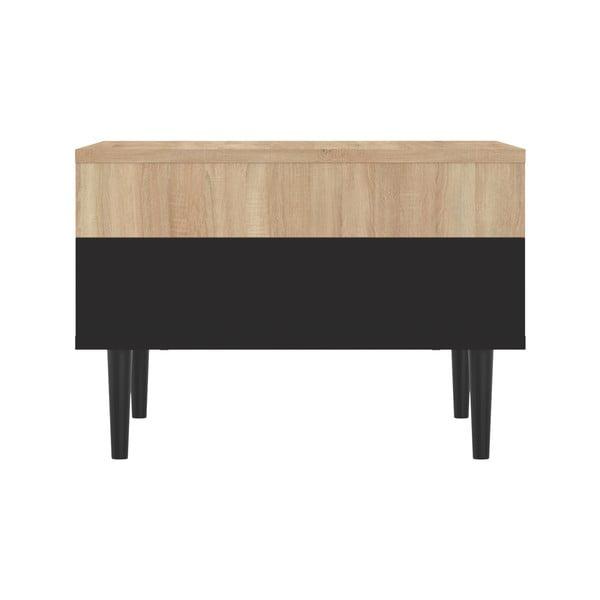 Černý konferenční stolek v dekoru dubového dřeva Symbiosis Horizon