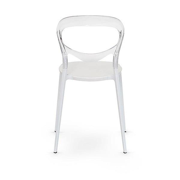 Sada 2 bílých židlí Garageeight Monpelie