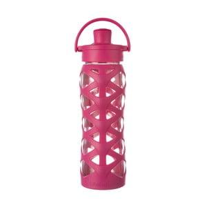 Sticlă de voiaj, din sticlă cu protecție din silicon, Lifefactory Guava Activ, 650 ml